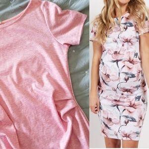Pinkblush Maternity Pink Sheath Dress